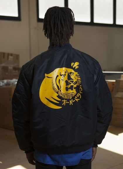 BOMBER TIGER BLU MAN BACK