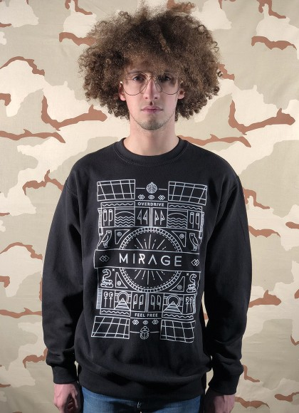 CREW NECK obelisc black MAN FRONT